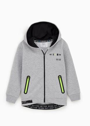 Спортивне худі neon sport hoodie  zara kids