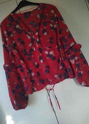 Блуза топ з красивими рукавами великого розміру