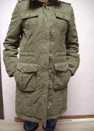 Парка ( пальто) esprit цвета хаки