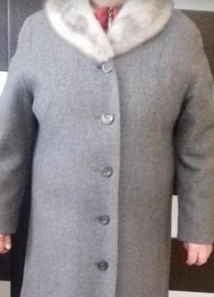 Пальто теплое шерстяное.