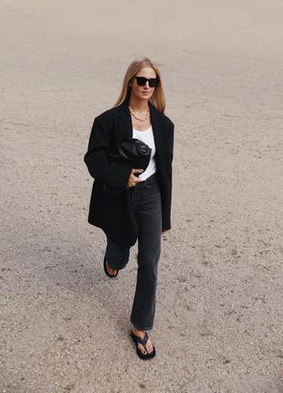 Трендовый чёрный оверсайз пиджак/жакет от brubaker .