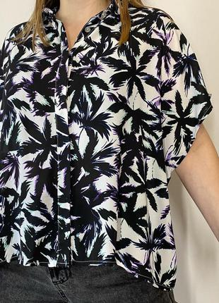 Блуза в пальми f&f