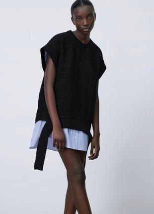 Платье мини рубашка zara