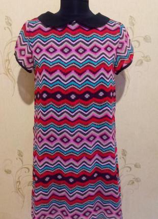 Цветное лёгкое платье сзади на пуговицах fde la passion