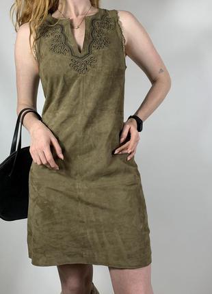 Чудове замшеве плаття-max&moi в стилі max mara