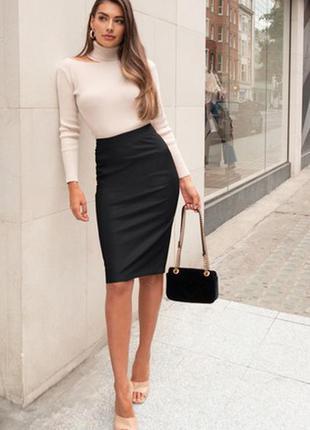 Классическая юбка ,плотный трикотаж, офисный стиль