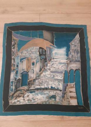 Винтажний подписной платок tino lauri, шелк