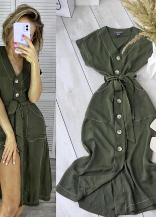 Платье миди хаки primark