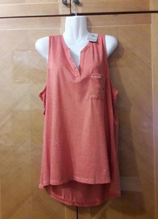 Tu р.20 новый брендовый верх пижамы  майка  домашняя одежда  с блестящей ниткой