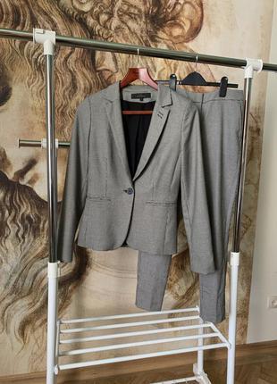 Костюм next гусиная лапка пиджак брюки классика