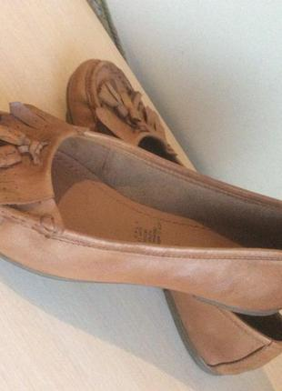 Фирменные кожаные туфли балетки 5thavenue англия