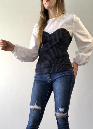 Рубашка с пышными рукавами