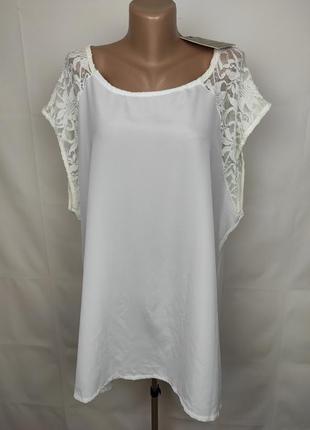 Блуза новая шикарная кружевная большого размера boohoo uk 22/50/4xl