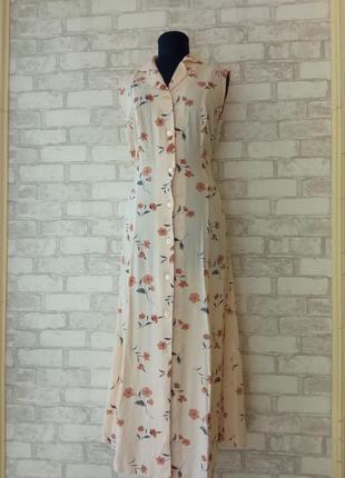 Винтажное платье-рубашка
