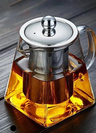 Чайник заварювальний склянний. 950 мл.