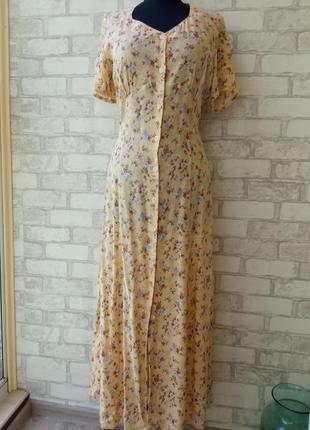 Винтажное чайное платье-рубашка сток