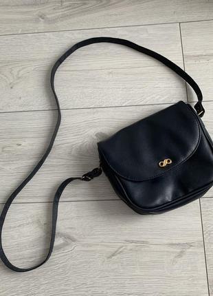 Маленькая сумка синяя на длинном ремешке синя маленька стильная вместительная удобная