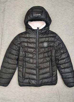 Куртка демисезонная очень теплая на 11-13 лет