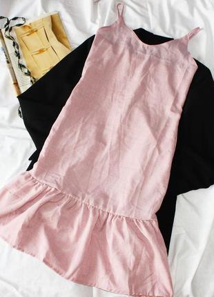 Платье в бельевом стиле на бретельках / плаття сукня