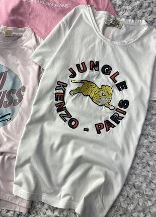 Хлопковая футболка с принтом kenzo x h&m