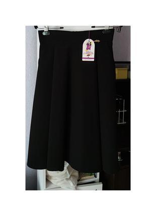 Распродаюсь♥ базовая юбка миди а-силуэта