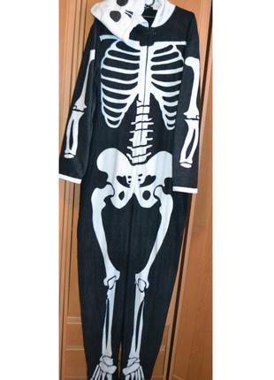 Мужской карнавальный костюм на хэллоуин, хеловин, хеллоуин, скелет, l