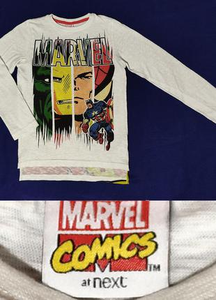 Модный свитерок next marvel герои капитан америка халк спайдермен на 128/134р.