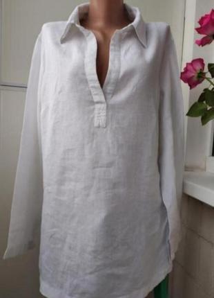Блузка туника, лен 💯, оверсайз италия
