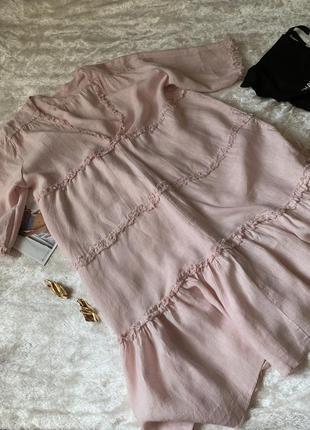 Италия льняное оверсайз платье