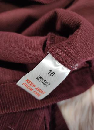 Бордовый вельветовый миди сарафан studio id2 фото