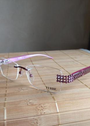 Распродажа! фирменная безободковая оправа под линзы,очки оригинал gf.ferre gf33902 новая