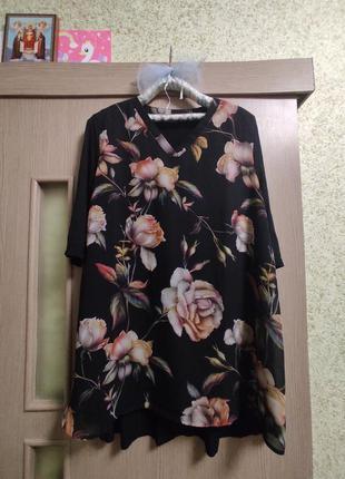 Шикарная блуза,туника,батал 56-58р
