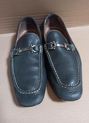 Туфли мужские, лоферы, aston grey,  9,5 р-р евроб/у кожа