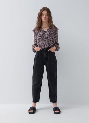 Трендовые слоучи джинсы балоны тренд оверсайз свободные бойфренды мом  mom