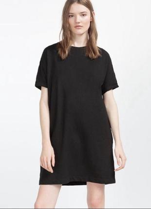 Худи толстовка свитшот платье хлопковое трикотажное чёрное