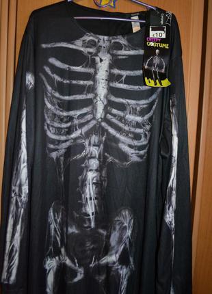 Мужской карнавальный костюм на хэллоуин, хеловин, хеллоуин, скелет xl