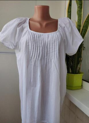 Блузка хлопок, большой размер, италия