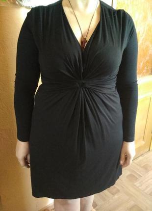 Красивое трикотажное платье gina benotti, размер м, наш 50-52.