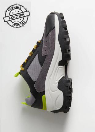 Mега крутые кожаные кроссовки ботинки mango на платформе 38-39