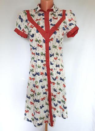 Винтажное чайное платье-халат австралия alannah hill (размер 36)
