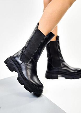 Ботинки высокие челси (нат.кожа)