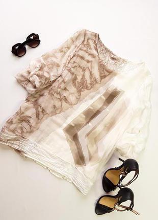 Шикарная шелковая блузка ,италия