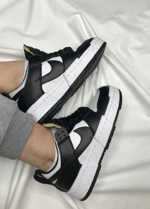 Женские черно-белые кроссовки nike dunk white black