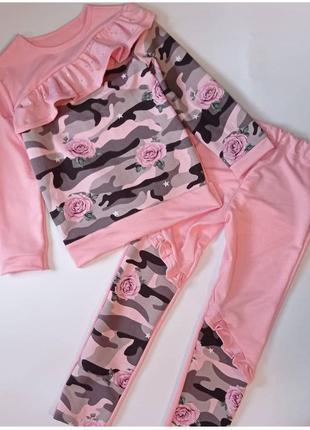 Костюм детский розовый спортивный