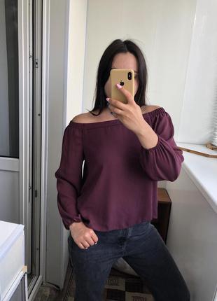 Шикарная блузка блуза с открытыми плечами рубашка