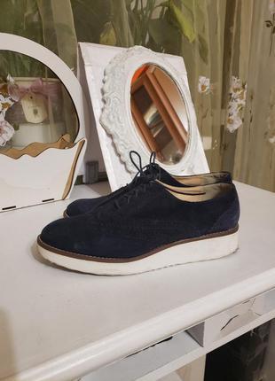 Туфли женские замшевые р.39