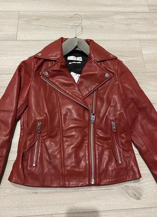 Кожа курточка косуха mango xs s m l