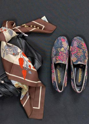 Брендовые эксклюзивные туфли rinascimento цветочный принт италия