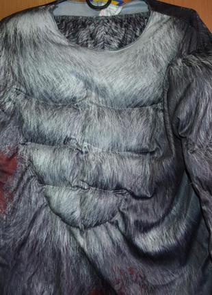Мужской карнавальный костюм на хэллоуин, хеловин, хеллоуин, оборотень, м