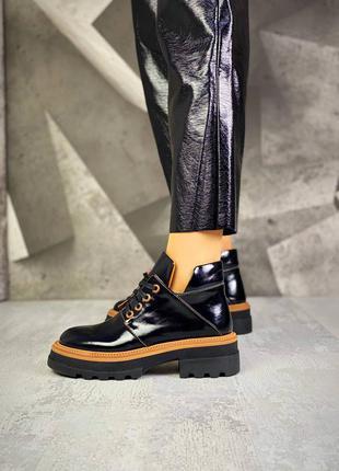 Ботиночки jade кожаные лак
